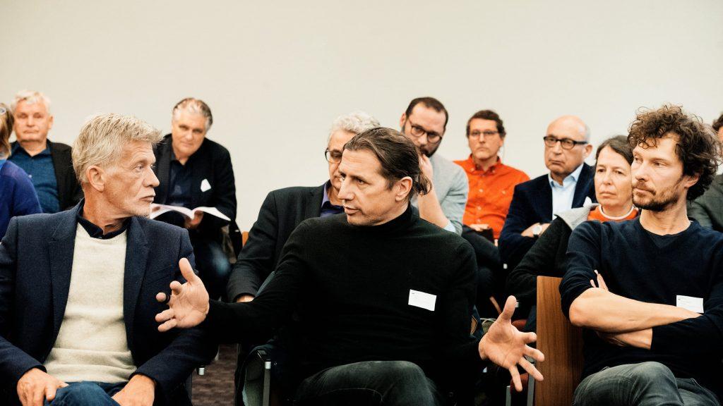 Uwe Dierks, Klaus Stern und Frank Marten Pfeiffer / © Florian Liedel · Deutsche Filmakademie