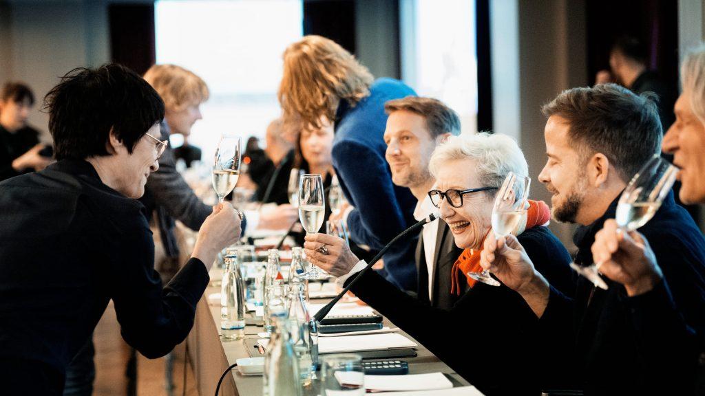 Lisy Christl, Gudrun Schretzmeier und Christian M. Goldbeck / © Florian Liedel · Deutsche Filmakademie