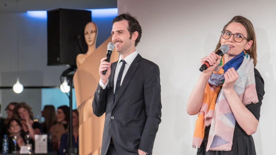 Die künstlerischen Leiter Florian Cossen und Elena von Saucken · © Mattia Tezzele / Deutsche Filmakademie e.V.